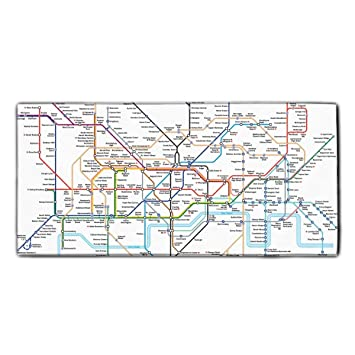 Detailed Map Of London.Amazon Com Detailed Map Of London Underground Face Towel 11 8 X
