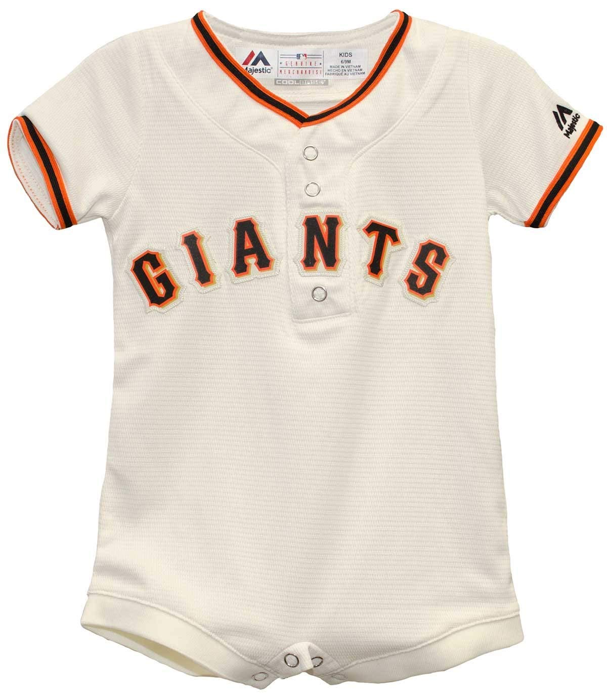 2019超人気 San Francisco GiantsホワイトホームクールベースロンパースJersey B0714BMSLQ 24 San Francisco 24 Months, トネムラ:ad7d6fda --- svecha37.ru