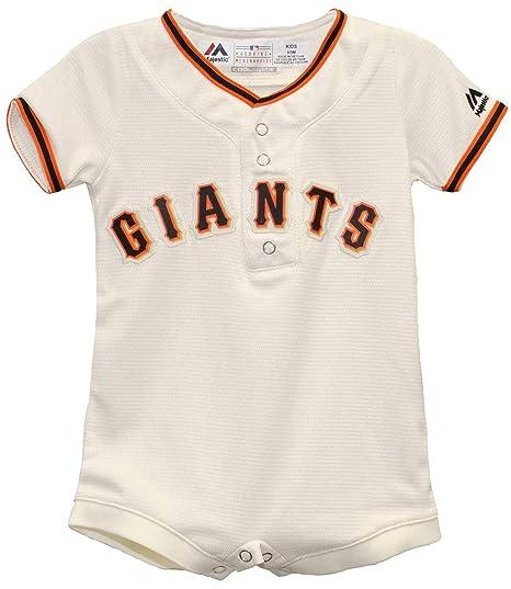 b96bbea7b Amazon.com: San Francisco Giants White Home Cool Base Romper Jersey ...