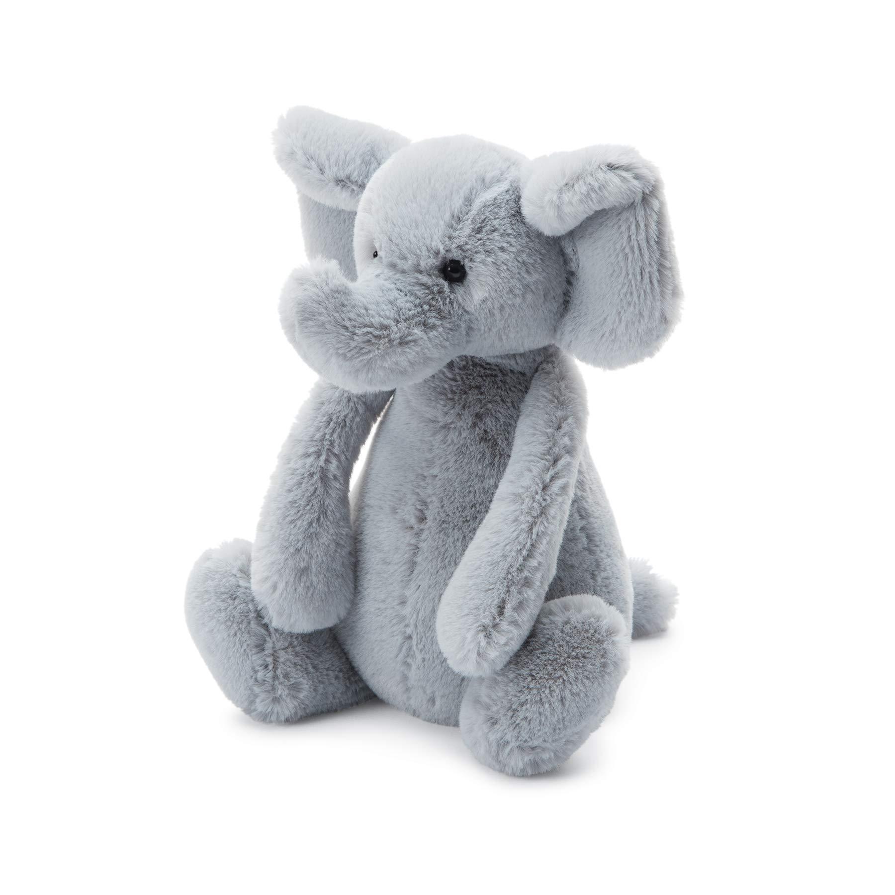 Jellycat Bashful Grey Elephant Stuffed Animal, Large, 15 inches by Jellycat