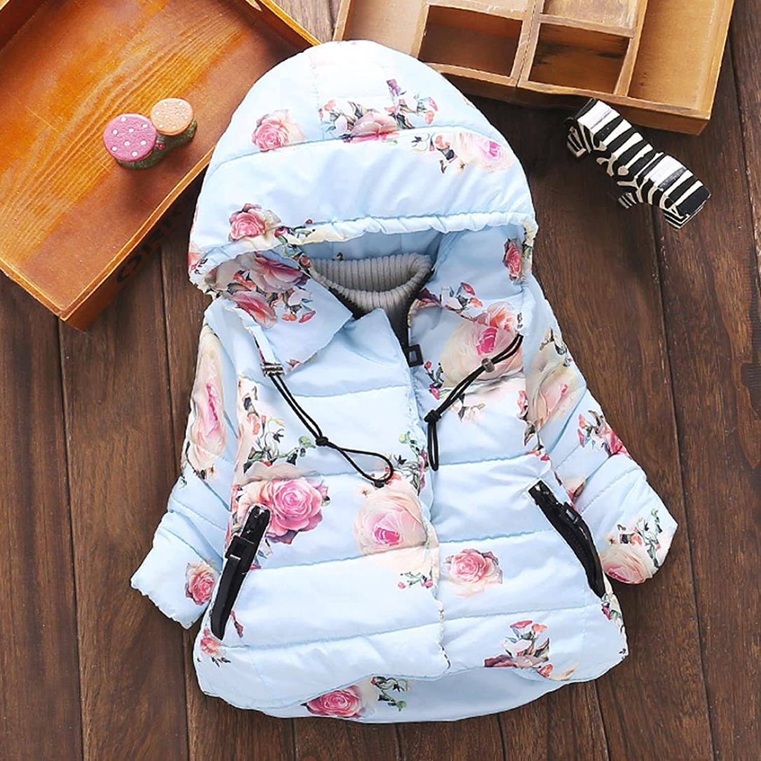 1-3 Years Old Baby Girls Coat, Ouneed Floral Warm Winter Tops Casual  Clothes Coat: Amazon.co.uk: Clothing