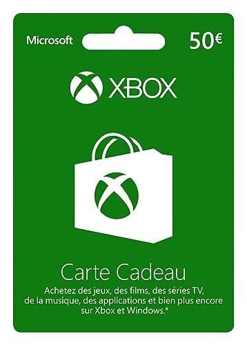 Carte Cadeau Xbox 50.Carte Xbox Live De 50 Eur Amazon Fr Jeux Video