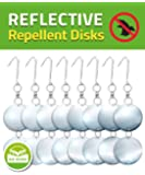 De-Bird: Repellent Disks - Bird Proof Your House & Garden with Hanging Bird Deterrent Reflectors -8 Pack Set
