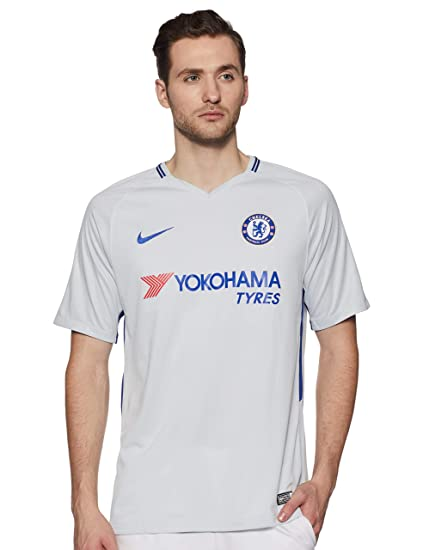 df5d67f75c05 Amazon.com   Nike Breathe Chelsea FC Stadium Jersey  Pure Platinum ...