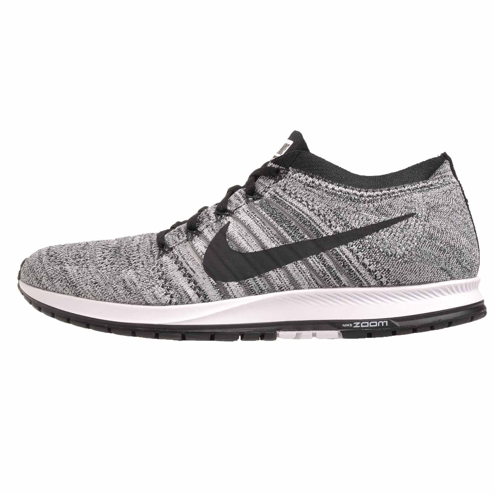 Nike Flyknit Streak Unisex Running Shoes BlackBlack Wolf Grey White 835994 003 (11.5 D(M) US)