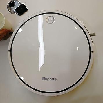 bagotte i7 Aspiradora robot con sistema de limpieza de alto rendimiento (blanco)