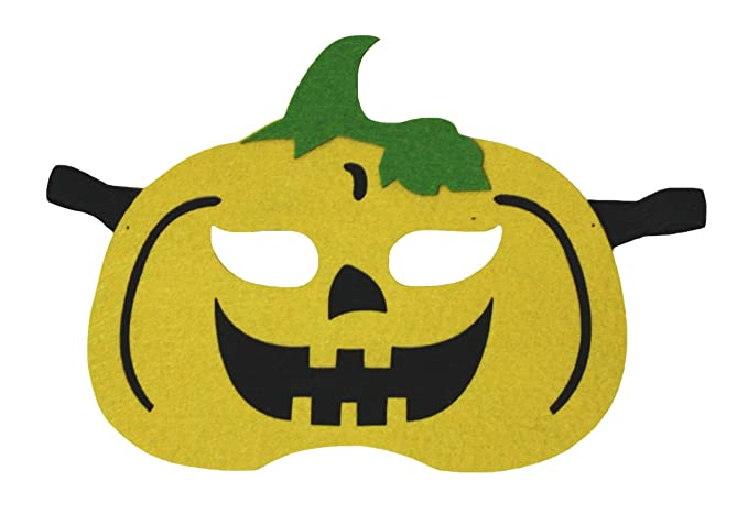 Petitebella Halloween Yellow Pumpkin Eyewear Mask Dress Up Costume for Children (One Size)