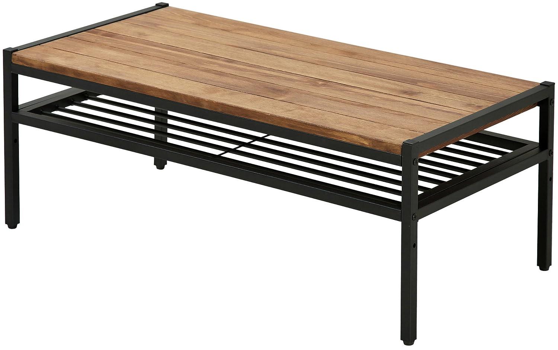 アイアンウッド センターテーブル 90cmタイプ 幅90cm×奥行46cm×高さ35cm パイン材 オイル仕上げ