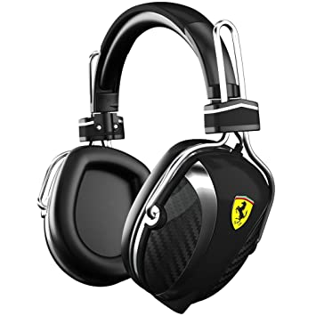 Ferrari P200 Negro Circumaural Diadema auricular - Auriculares (Circumaural, Diadema, Alámbrico, 20