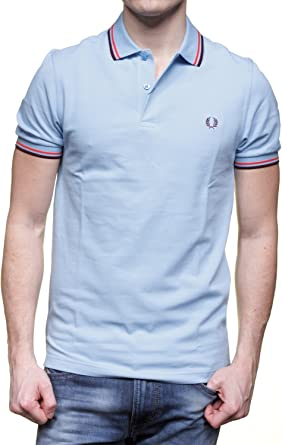Fred Perry Authentics Slim Fit Twin Tipped Polo GLACIER Large ...
