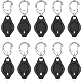 Uniclife 10 Pack Mini Keychain Flashlight Ultra Bright LED Key Ring Light Torch, Black