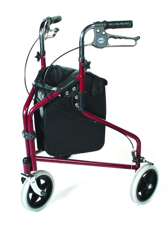 Patterson Medical - Andador con 3 ruedas y frenos bloqueables ...