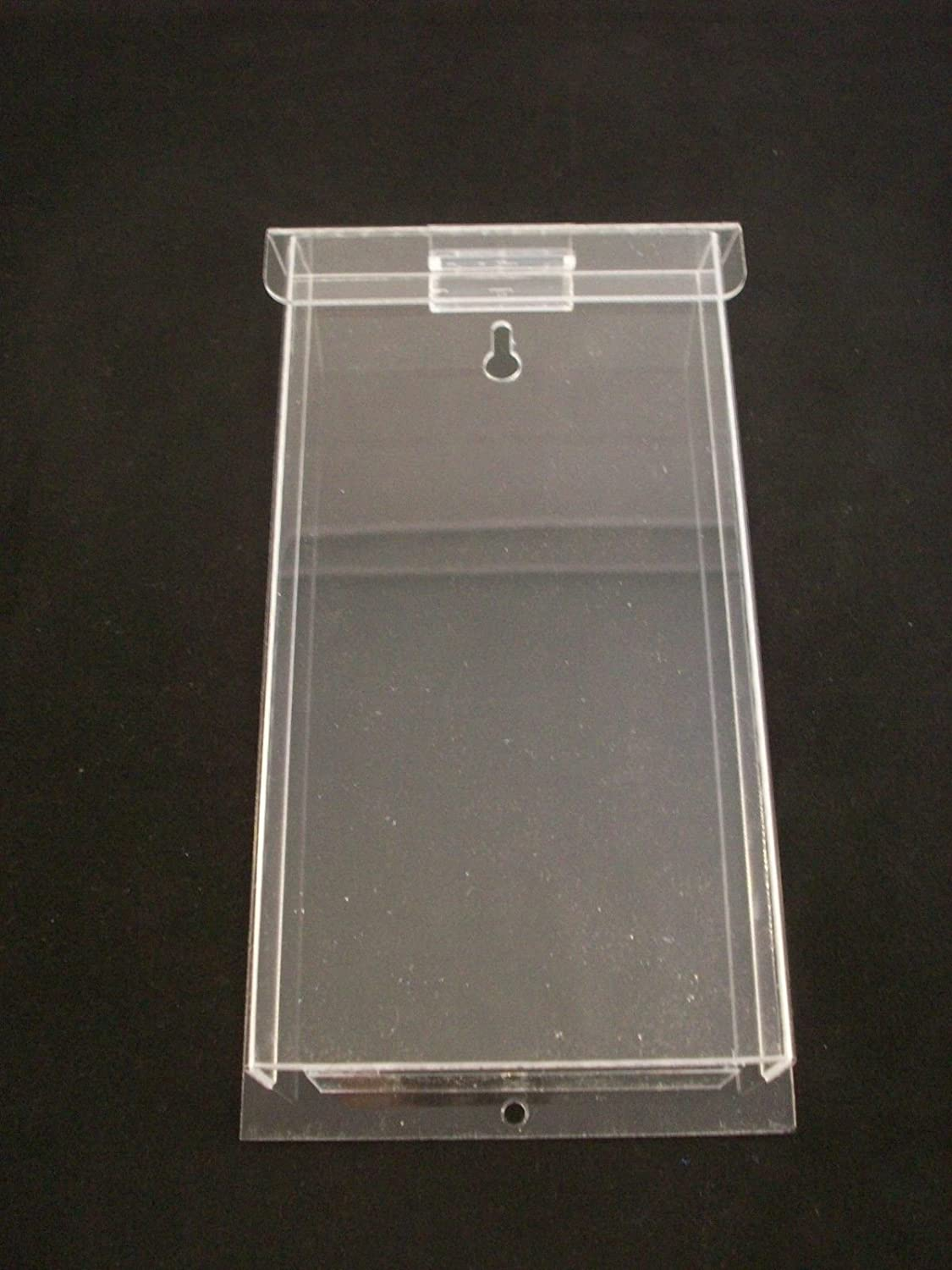 Outdoor Brochure Holder Tri-Fold Flyer Box Real Estate Clear Acrylic AZM Display