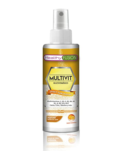 Potente Complejo Multivitamínico en spray sublingual con Vitaminas C, B3, E, B5,