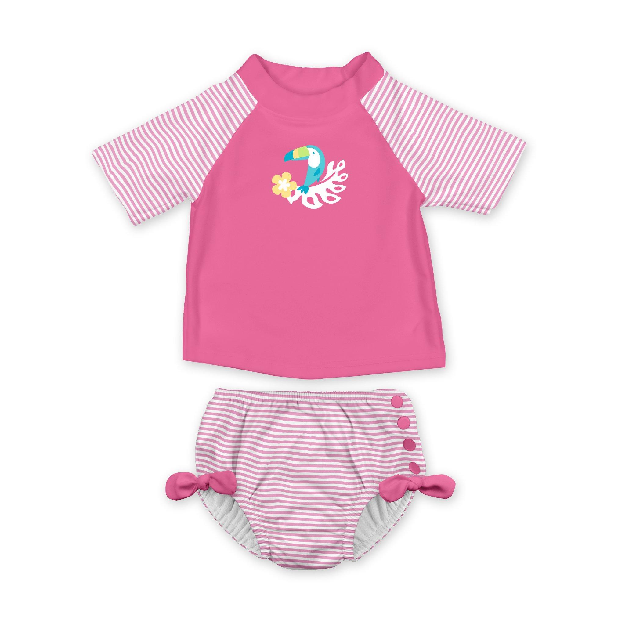 i play. Toddler Girls' 2pc Rashguard Swimsuit Set