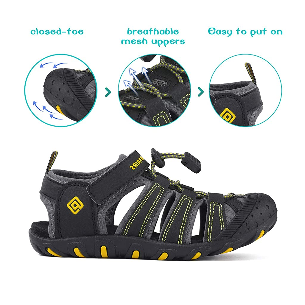Toddler//Little Kid//Big Kid DREAM PAIRS Boys Girls Closed-Toe Breathable Athletic Outdoor Summer Sandals