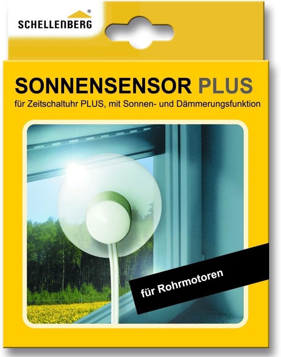 Schellenberg 25556 Sonnensensor Plus mit 1,5 m Kabell/änge f/ür Zeitschaltuhr PLUS 25555