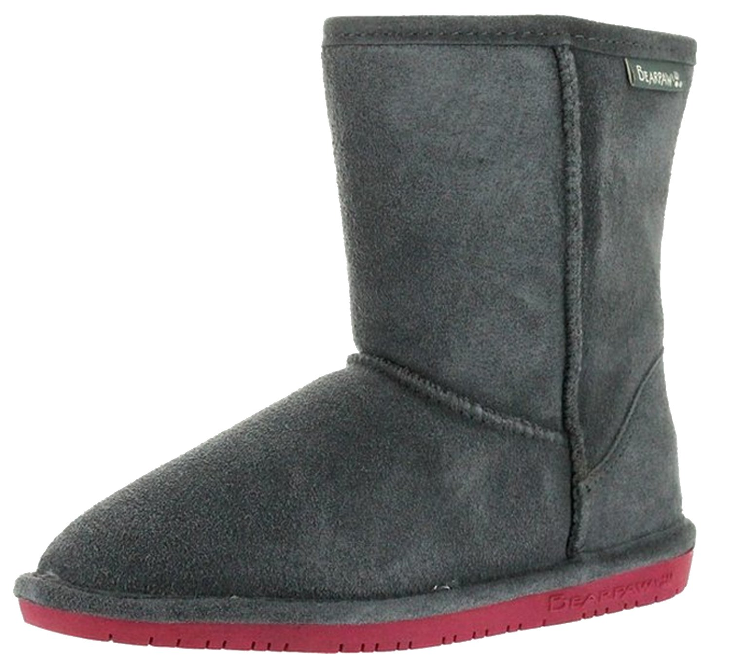 Bearpaw Emma 608Y Kids Boots,Charcoal/Pomberry,5