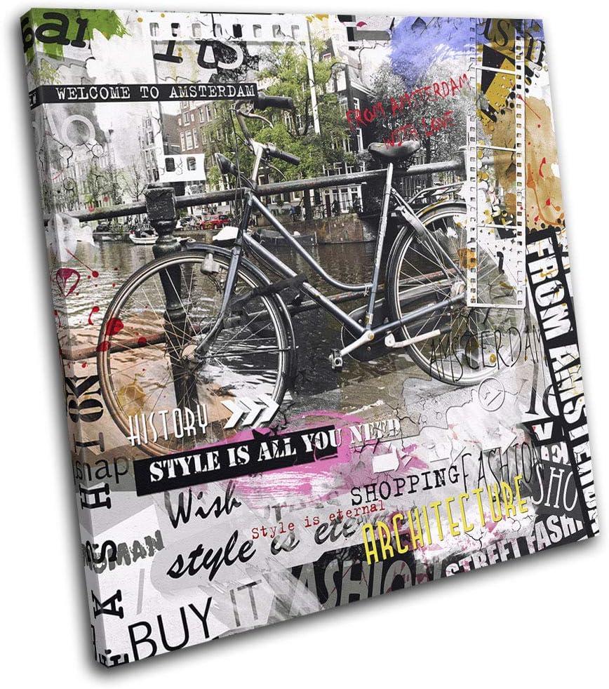 Bold Bloc Design - Amsterdam Urban Graffiti Grunge City 60x60cm ...