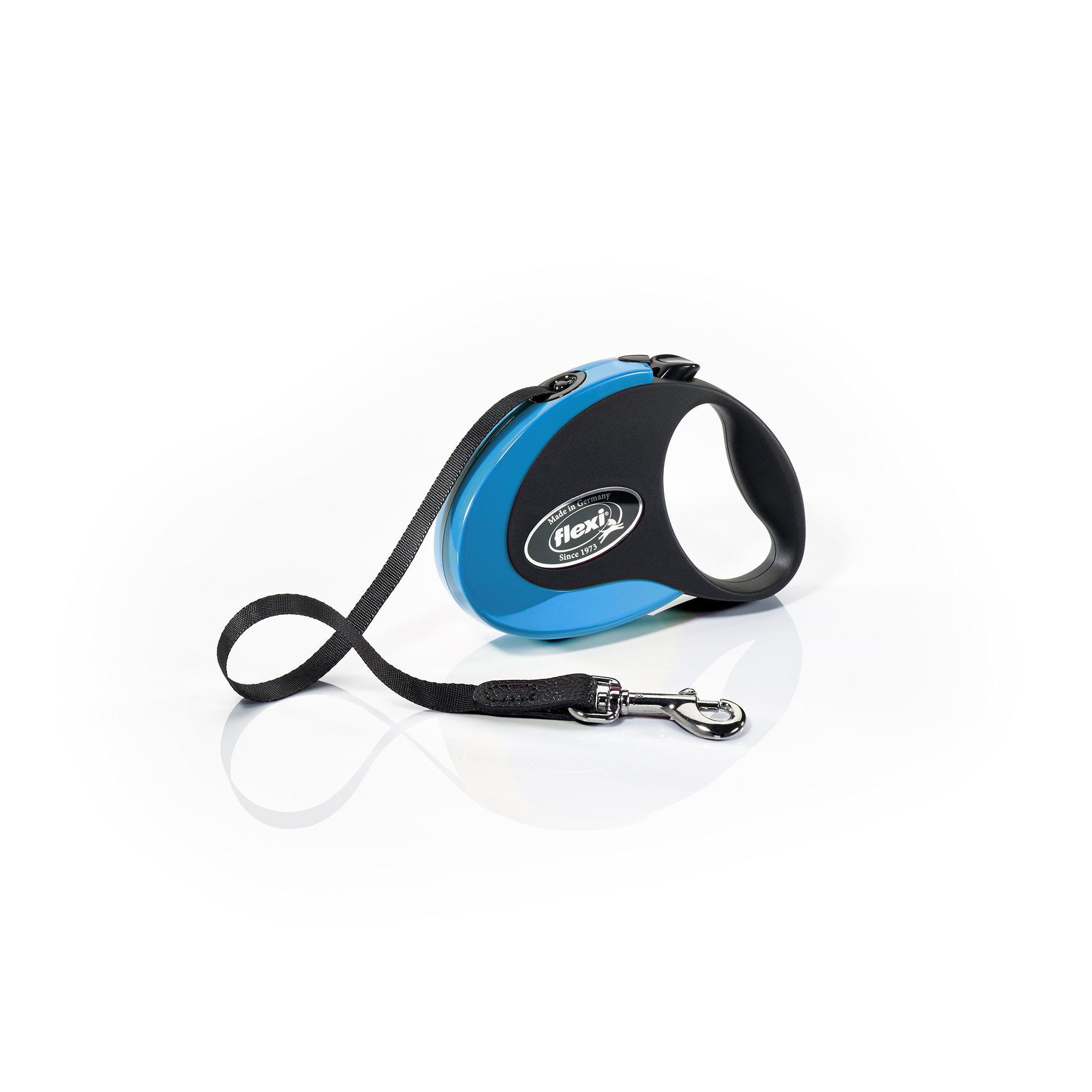 Flexi Collection Retractable Dog Leash (Tape), 10 ft, Small, Blue