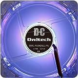 オウルテック PCケース用オリジナルLEDファン 8cm 25mm厚 1600rpm 静音 リブ無し 1年保証 パープル OWL-FE0825LL-PU