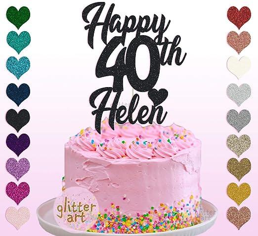 Decoración para tarta de 40 cumpleaños personalizable con ...