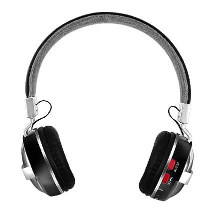 Pawaca Auriculares inalámbricos plegables con cancelación de ruido, Bluetooth 4.1, micrófono integrado y batería