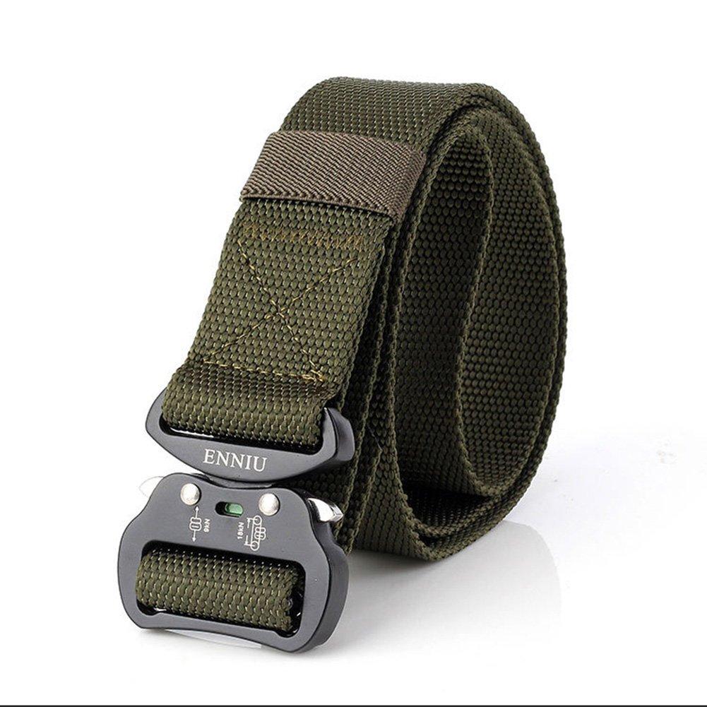 "FEIKCOR Taktischer Gürtel-Outdoor Tactical Belt Herren Heavy Duty Verstellbare Military Style Nylon Gürtel mit Aluminium Schnalle 1,5"" 5 "" (Braun) FEIGE"