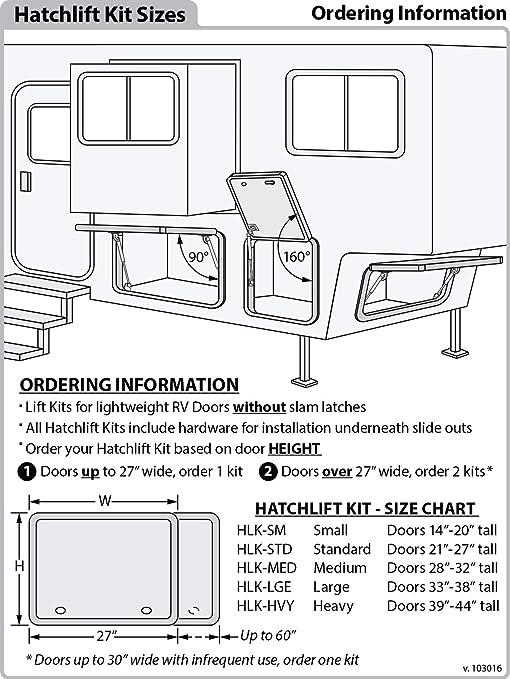 Exceptional Hatchlift RV Door Lift Kit For Doors From 14u0026quot;   20u0026quot; ...