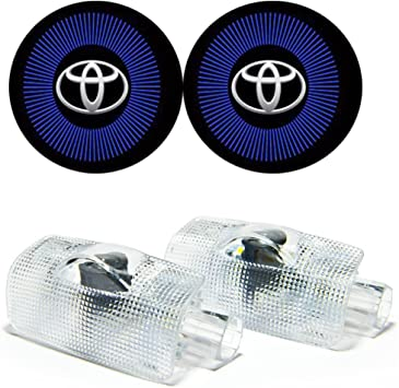 Door Logo Light Projector Ghost Shadow Lights Compatible with Toyota 4 Runner Avalon Camry Highlander Land Cruiser Prius Sequoia Sienna Tundra Venza 4Pcs Ground Courtesy Light