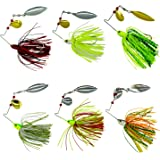 Fishing Spinner Baits Kit - Hard Spinner Lures Multicolor Buzzbait Swimbaits Pike Bass 0.64oz