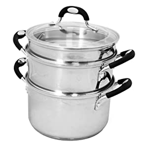 Tramontina Stainless Steel 4-Piece 3-Quart Multi-Cooker