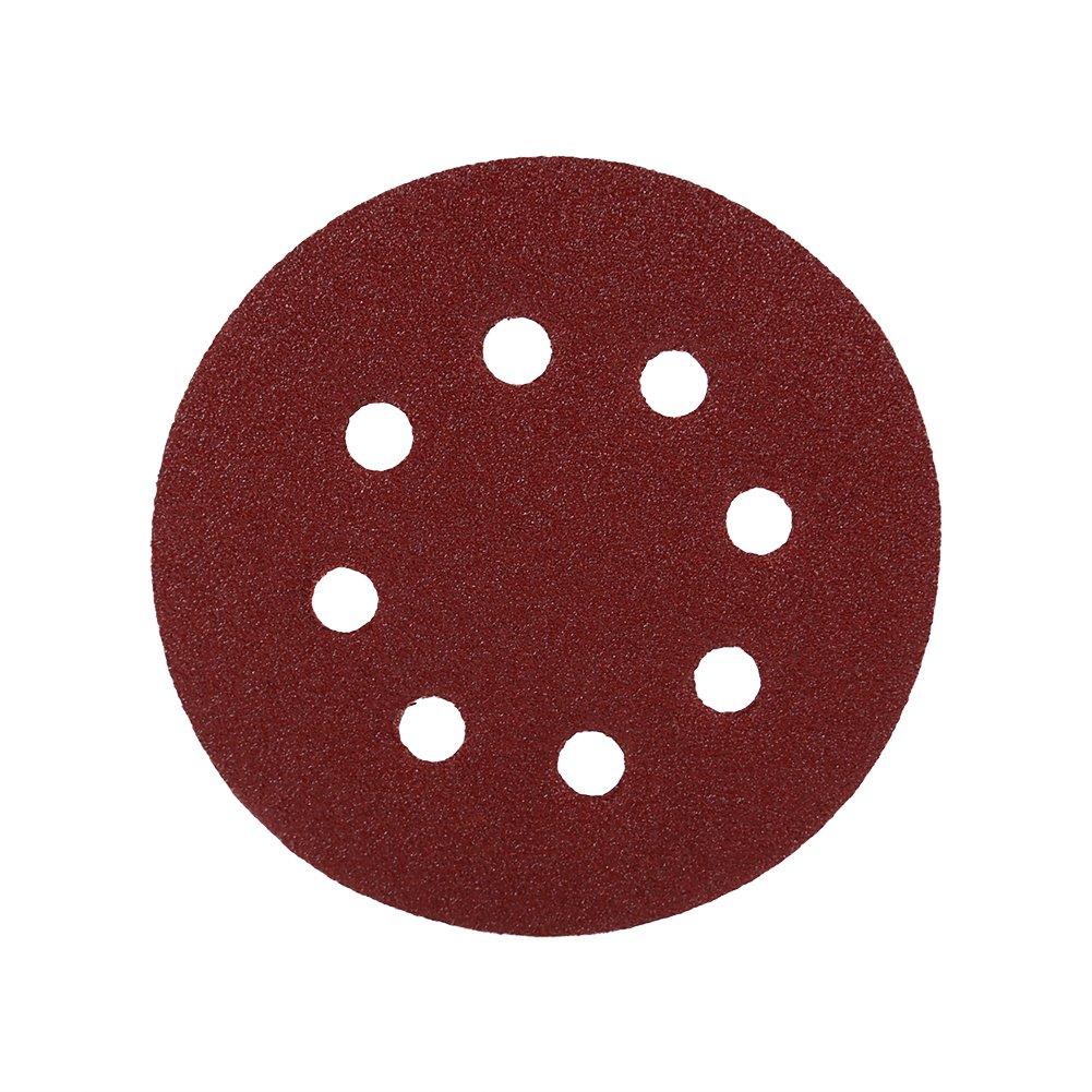 10Pcs 8 Hole Round Sanding Discs 5 inch//125 mm Hook and Loop 60-1000 Grits Sandpaper Assortment for Random Orbital Sander 1000#