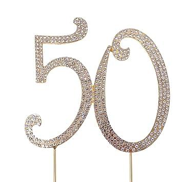 Amazon.com: Decoración para Tarta para honbay 50 oro para ...