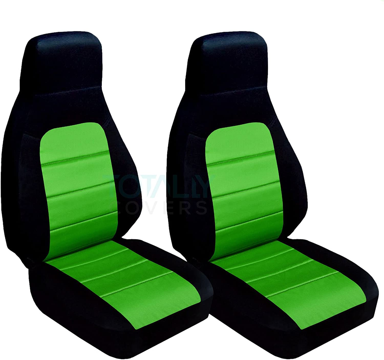 Black and Red Totally Covers Compatible with 1990-2000 Mazda MX-5 Miata Seat Covers Bucket 22 Colors