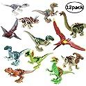 12-Pieces THS8 Jurassic World Toys, Dinosaur Figure Building Blocks