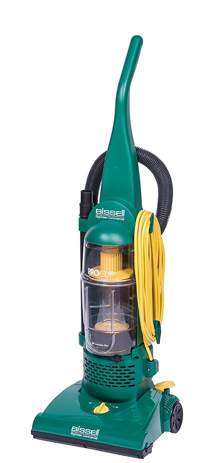 "BISSELL BigGreen BGU1937T 13.5"" Pro Cup Bagless Upright Vacuum with On-Board Tools, 44"" Height, 13.5"" Wide, 13.2"" Length, Polypropylene, 2 fl. oz. Capacity, Green"