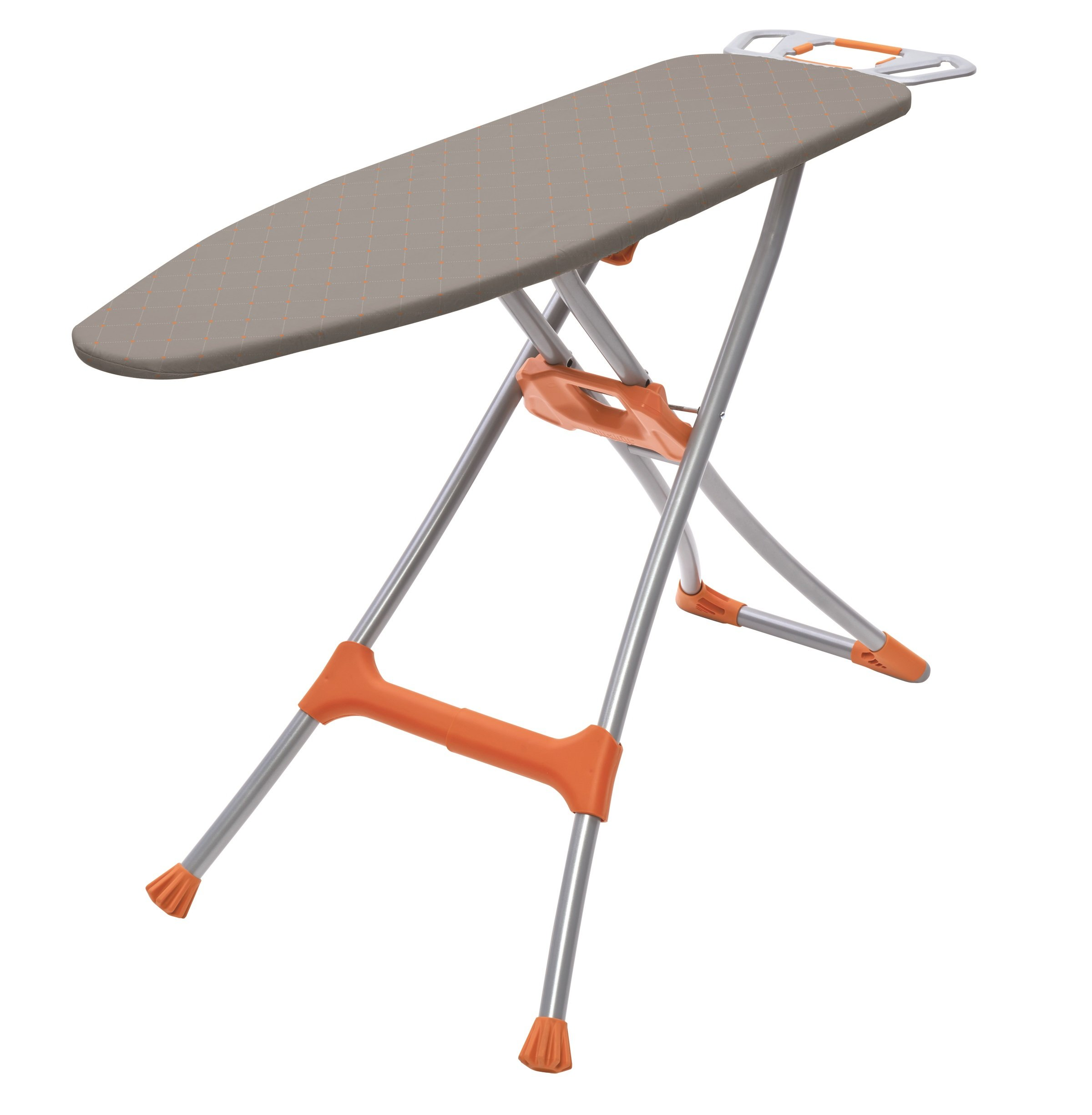 HOMZ Durabilt DX1500 Premium Steel Top Ironing Board with Wide Leg Stability, Adjustable up to 39.5''