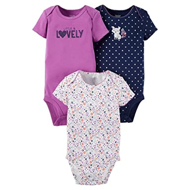 932e8f733 Amazon.com: Carter's Just One You Baby Girls' 3 Pack Fox Bodysuit ...