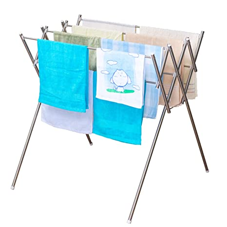 soges Estante de toalla plegable del acero inoxidable, soporte de la toalla del soporte del