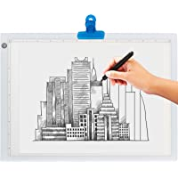 LED Light Box for Tracing - Ultra Thin Light Pad with Adjustable Brightness. Comes with USB Cable, Adapter, Tracing…