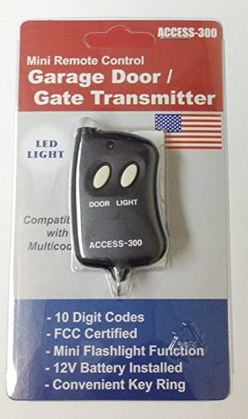 Amazon Com Access Mini 10 Digit Codes Dip Switch Remote Garage Gate Opener Transmitter 300 Frequency Home Improvement