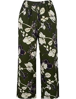 2239037d3b3282 Dimildm Women's Casual Floral Wide Leg Elastic Waist Split Palazzo Long  Pants with Side Pockets