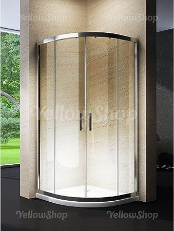 Cabina Doccia 90x90 Semicircolare.Yellowshop Box Cabina Doccia Bagno Curvo Semicircolare Dimensioni