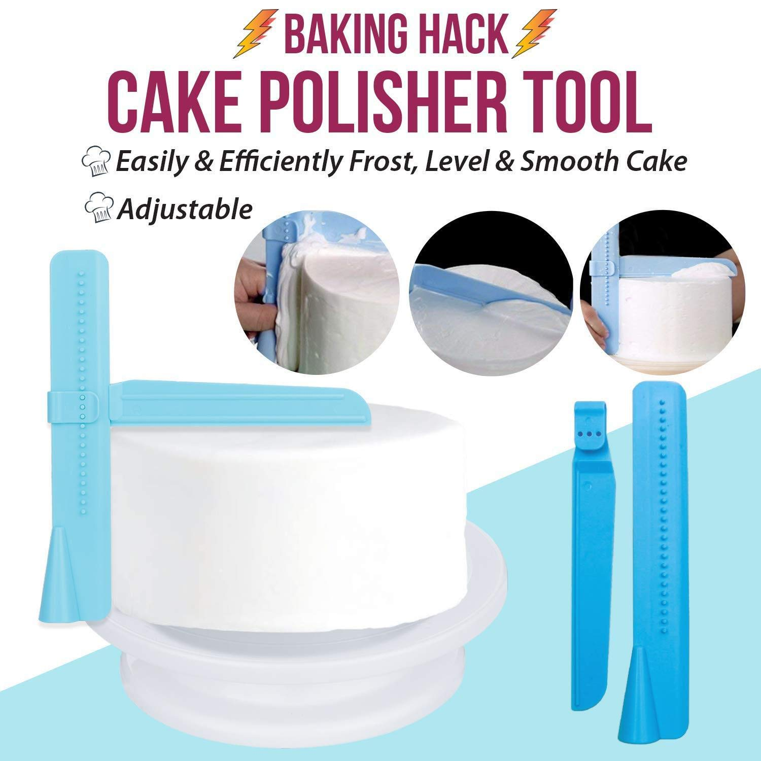 JHKJ 164 -Piece Cake Turntable Set Baking Tool DIY Tool Cake Decorating Kit Supplies by JHKJ (Image #3)