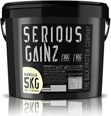 The Bulk Protein Company 5 kg Vanilla Serious Gainz Mass ...