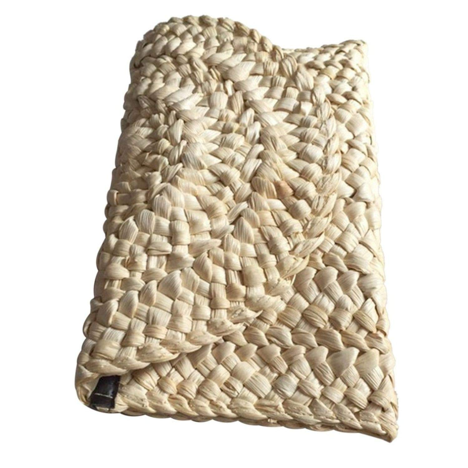 Straw Clutch Braided Wicker...