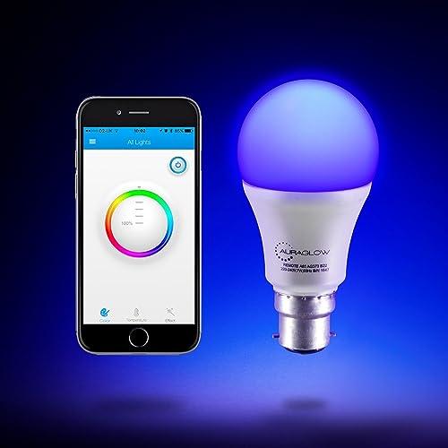 Auraglow 7w Remote Control Colour Changing Led Light Bulb