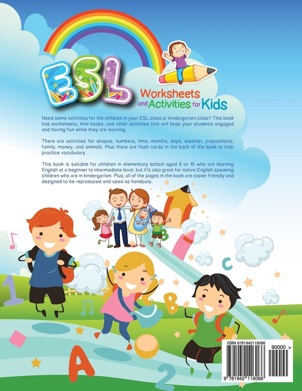 ESL Worksheets and Activities for Kids Amazoncouk Miryung – Preposition Worksheets Kindergarten