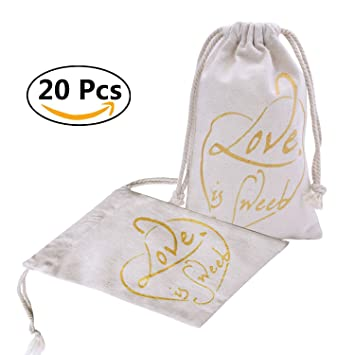 elegantpark 20 pcs 5 x 7 love is sweet wedding bachelorette party bridal shower